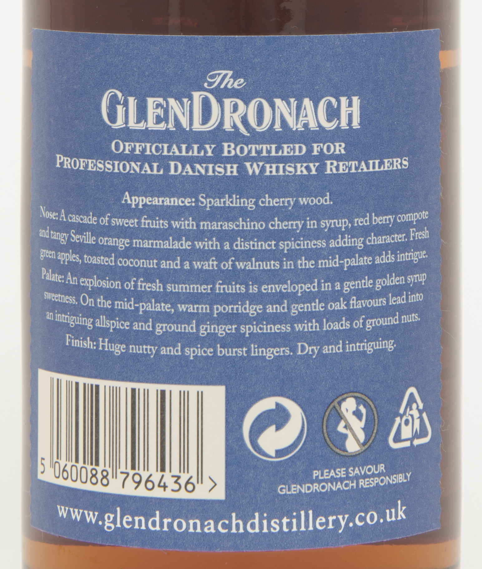 Billede: DSC_4818 - The Glendronach 10 - back label.jpg