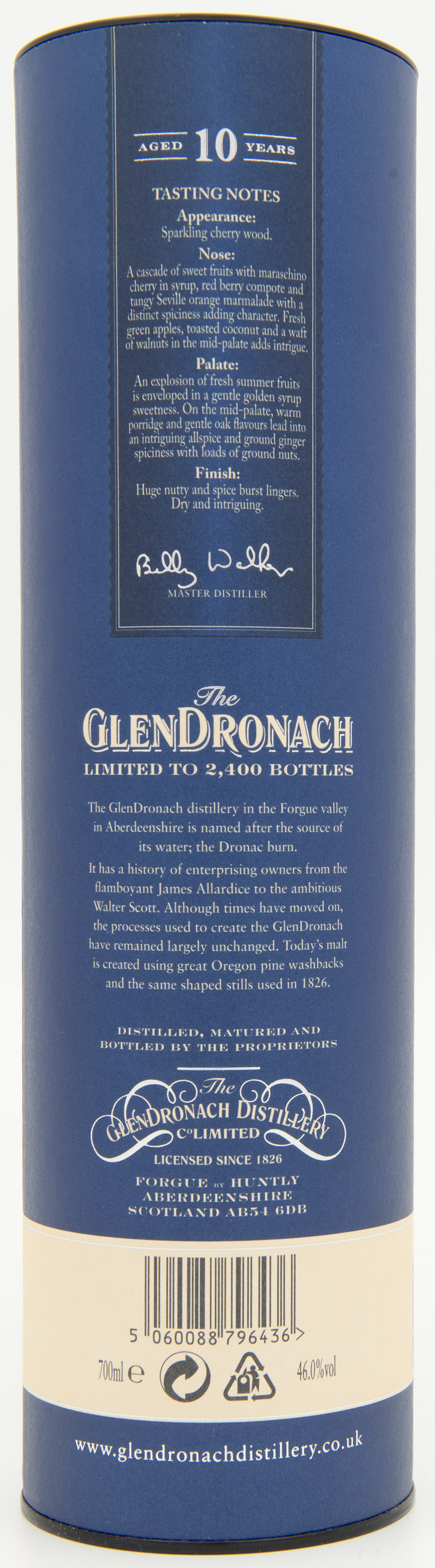 Billede: DSC_4820 - The Glendronach 10 - tube back.jpg