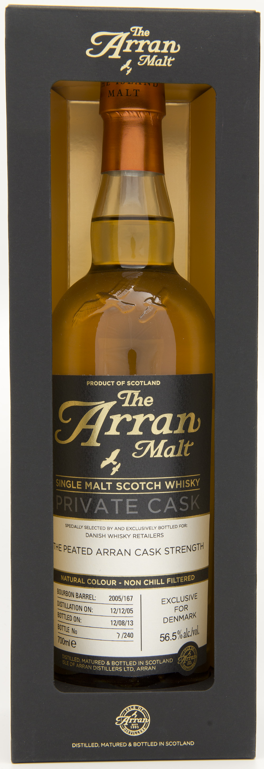 Billede: DSC_4821 - The Arran Malt - Private Cask - Danish Whisky Retailers The Peated Arran Cask Strength.jpg