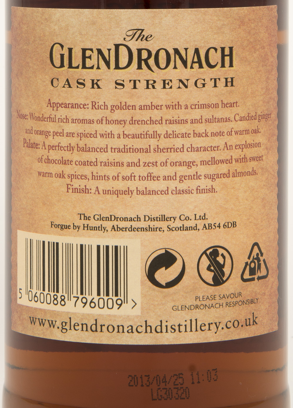 Billede: DSC_4837 - The Glendronach Cask Strength Batch 2 - back label.jpg
