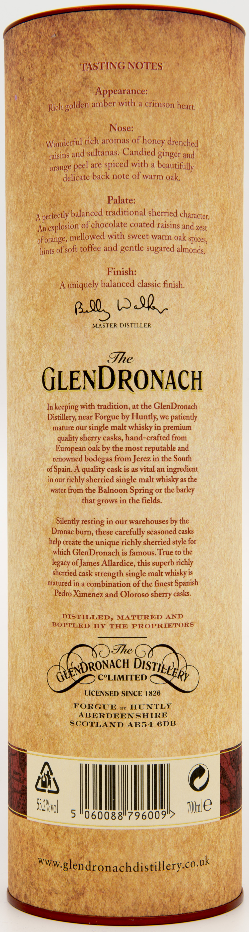 Billede: DSC_4839 - The Glendronach Cask Strength Batch 2 - tube back.jpg