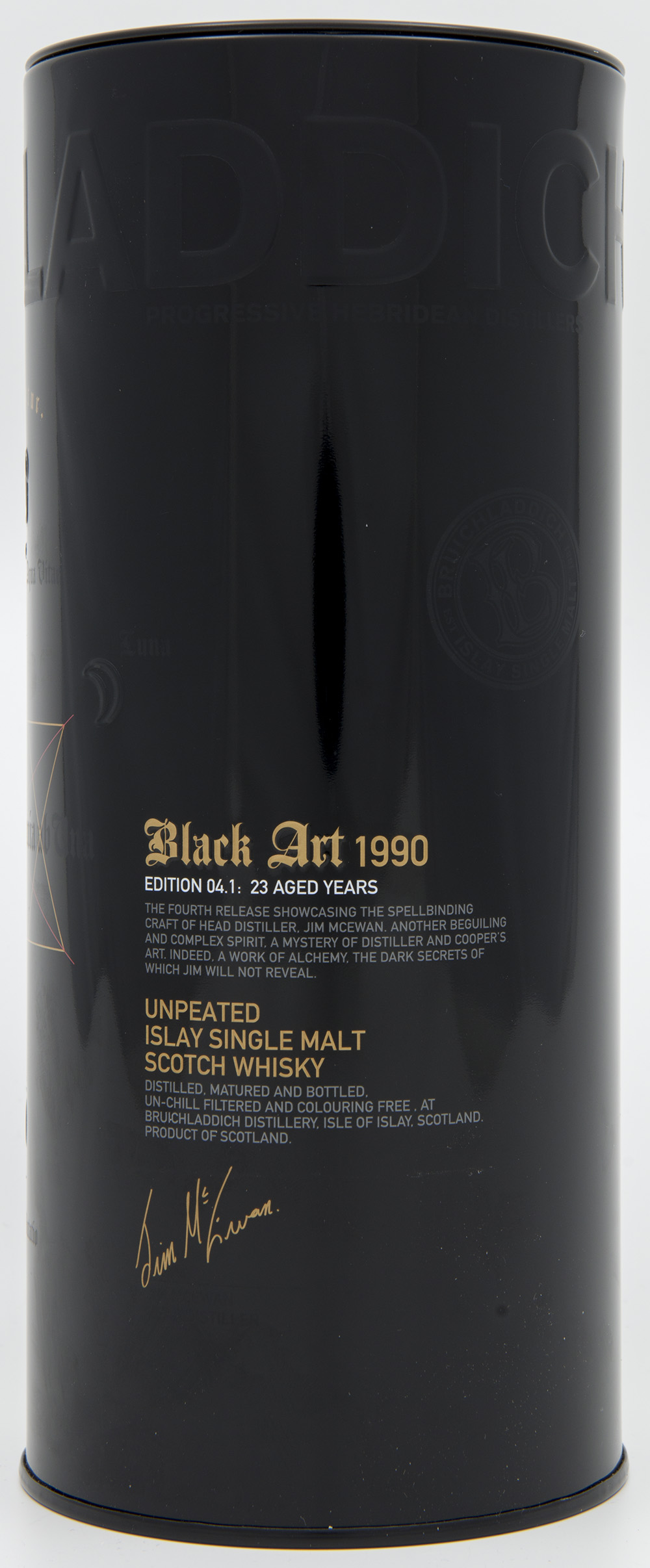 Billede: DSC_6181 - Bruichladdich Black Art 1990 - Edition 04.1 - 23 years - tube front.jpg