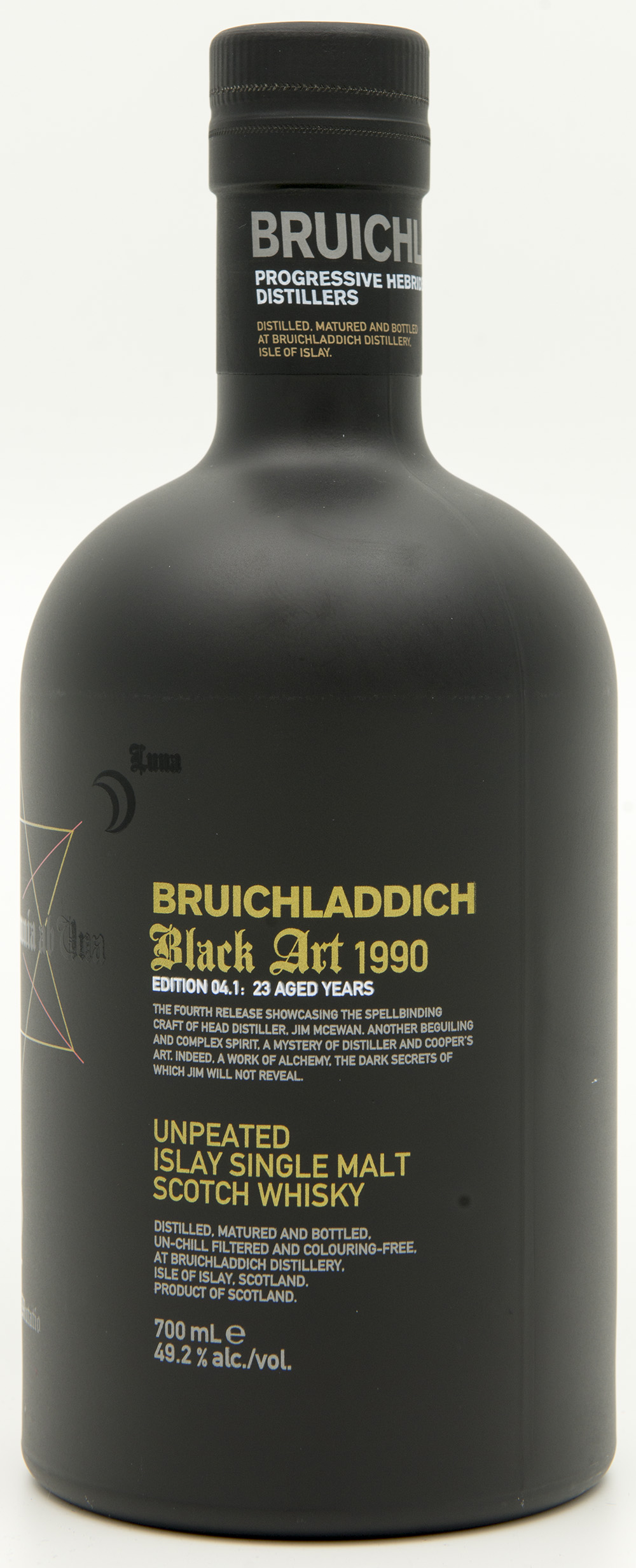 Billede: DSC_6183 - Bruichladdich Black Art 1990 - Edition 04.1 - 23 years - bottle front.jpg