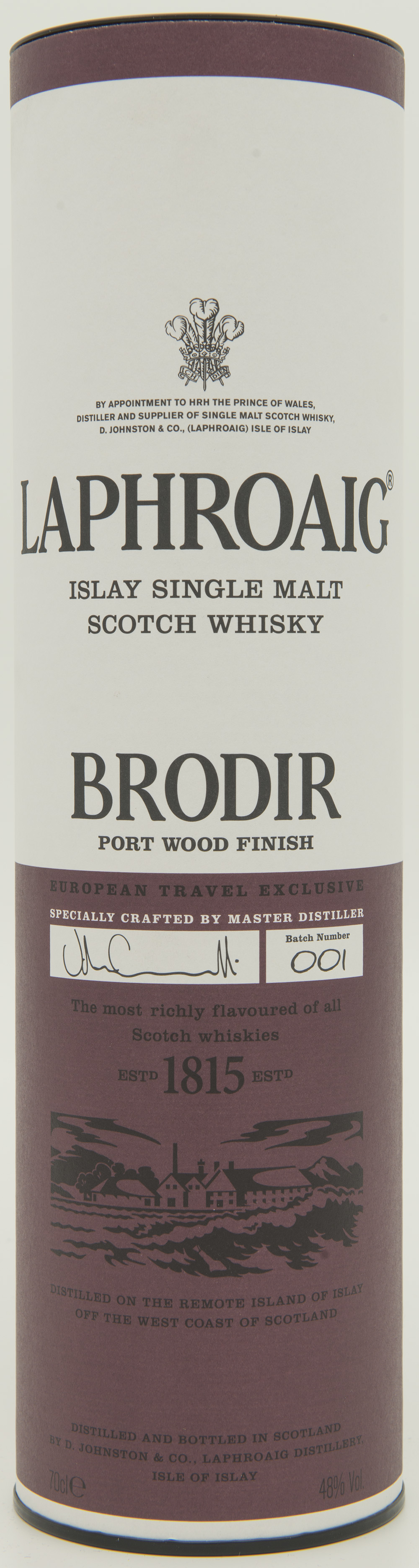 Billede: DSC_6443 - Laphroaig Brodir Port Wood Finish - Batch 001 - tube front.jpg