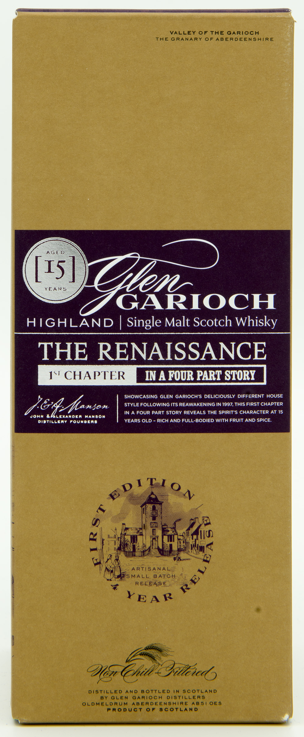 Billede: DSC_6553 Glen Garioch 15 - The Renaissance 1st chapter - Box front.jpg