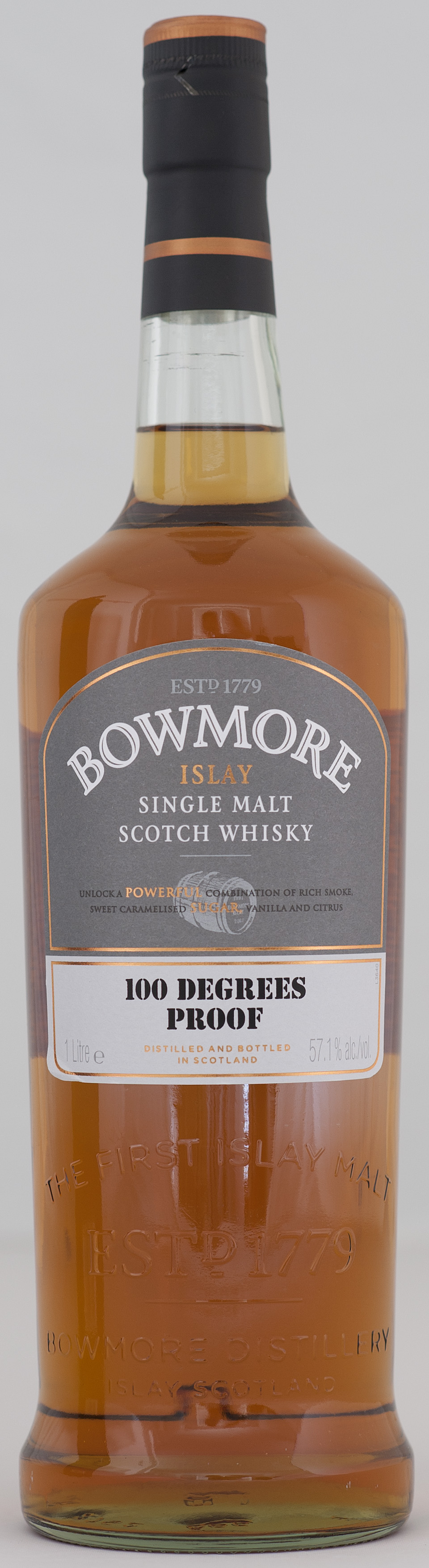 Billede: _DSC5616 Bowmore 100 Degrees Proof - bottle.jpg
