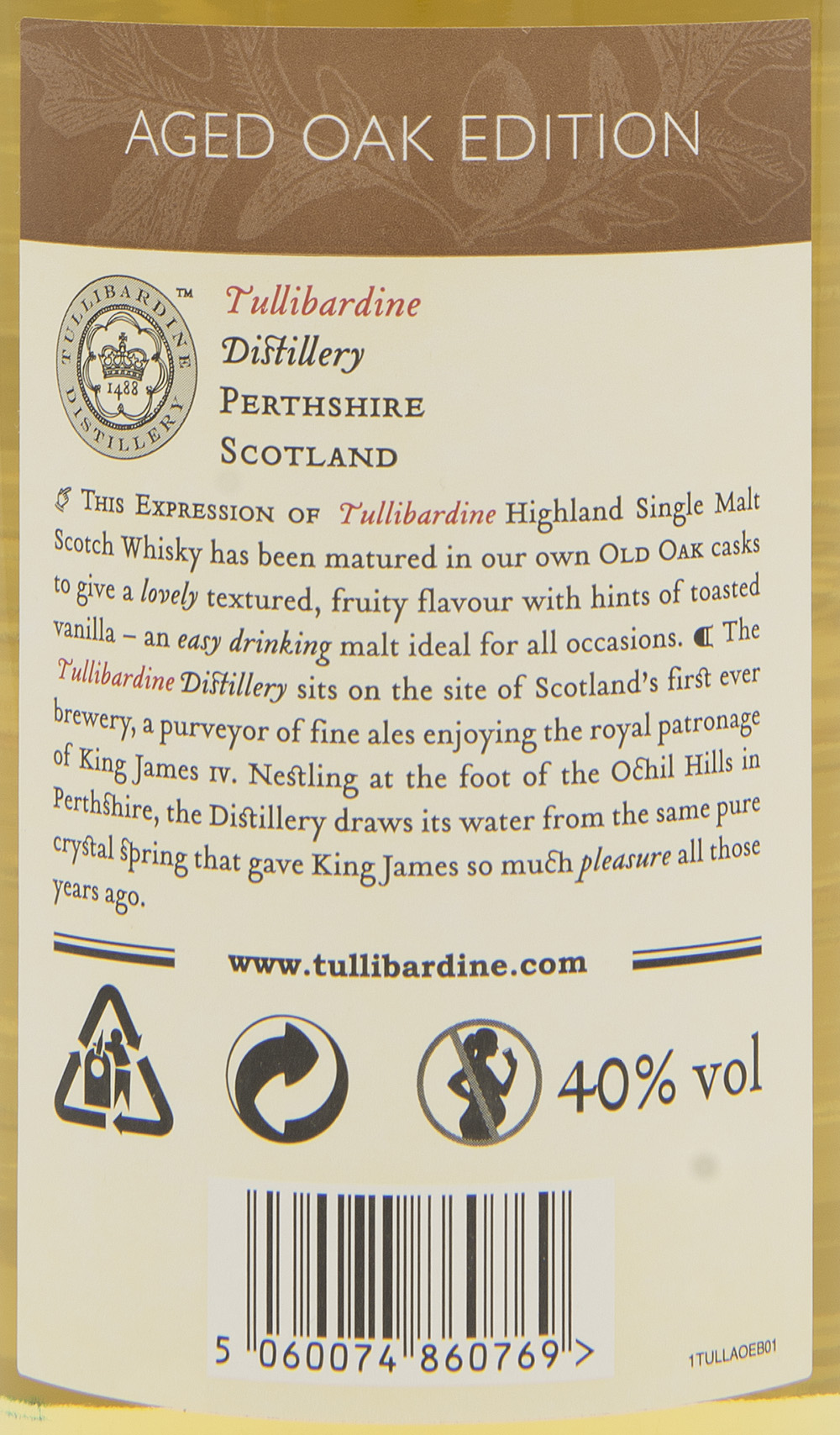 Billede: DSC_3736 Tullibardine Aged Oak Edition - bottle back label.jpg