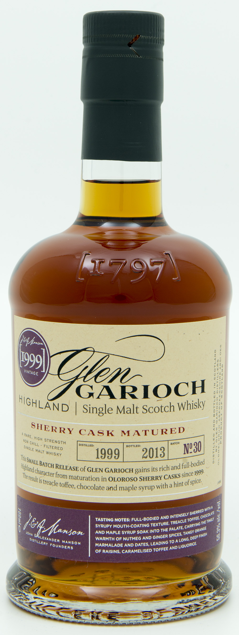 Billede: DSC_6558 GlenGarioch Batch 30 - Sherry Cask Matured 1999-2013 - bottle front.jpg