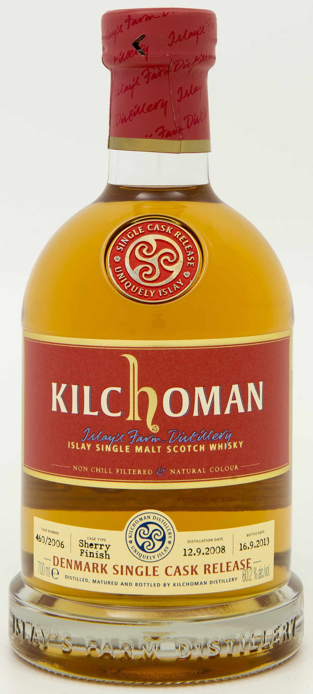 Billede: DSC_8199 - Kilchoman Denmark Single Cask Release 460-2006 - bottle front.jpg