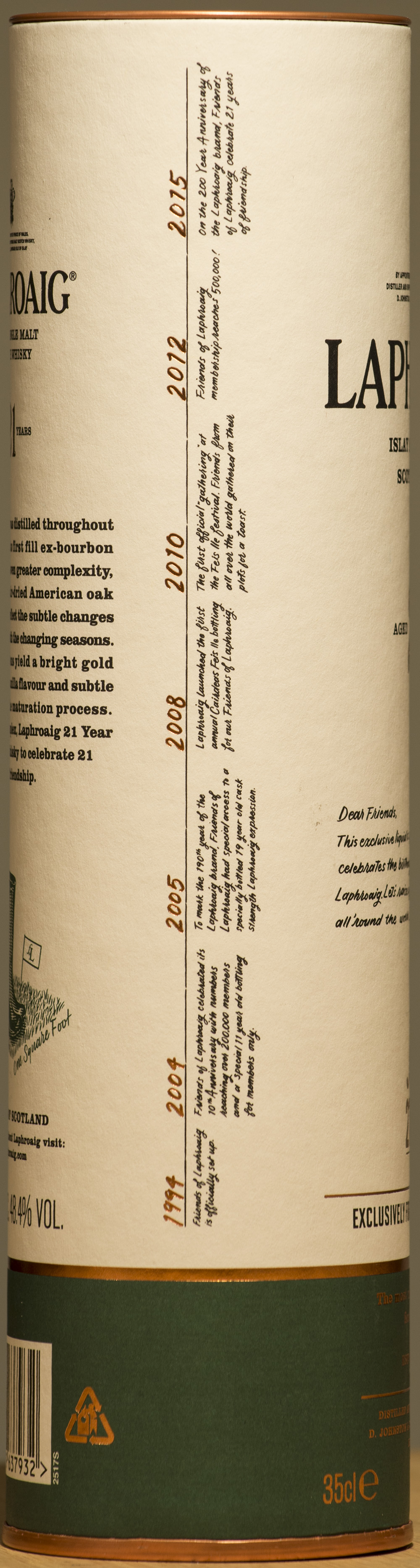 Billede: DSC_9118 - Laphroaig 21 års - FOL exclusive - tube side.jpg