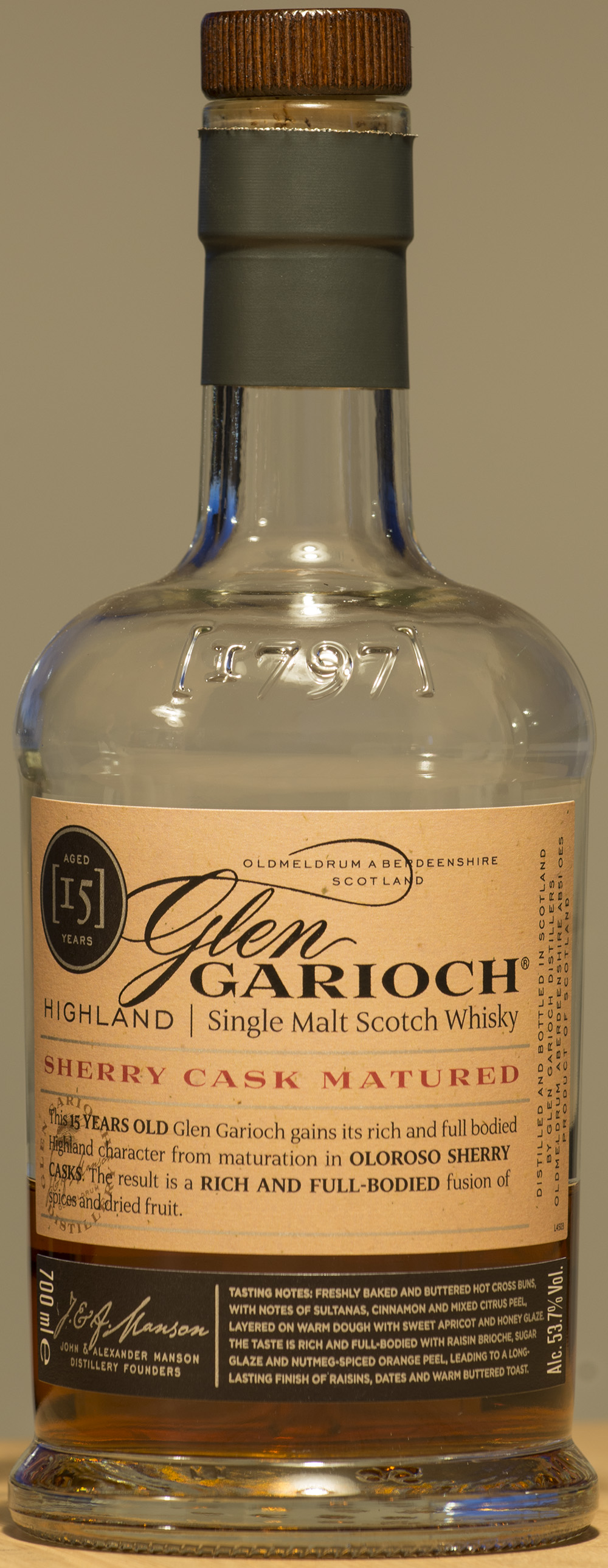 Billede: DSC_9085 - Glen Garioch 15 - bottle front.jpg