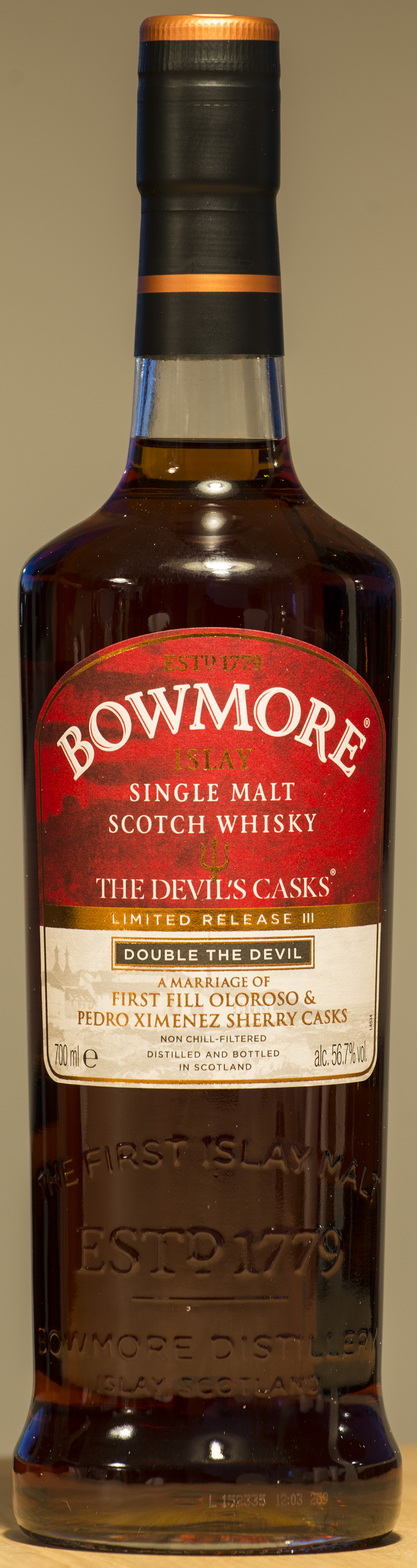 Billede: DSC_9079 - Bowmore Devils Cask Batch III - bottle front.jpg