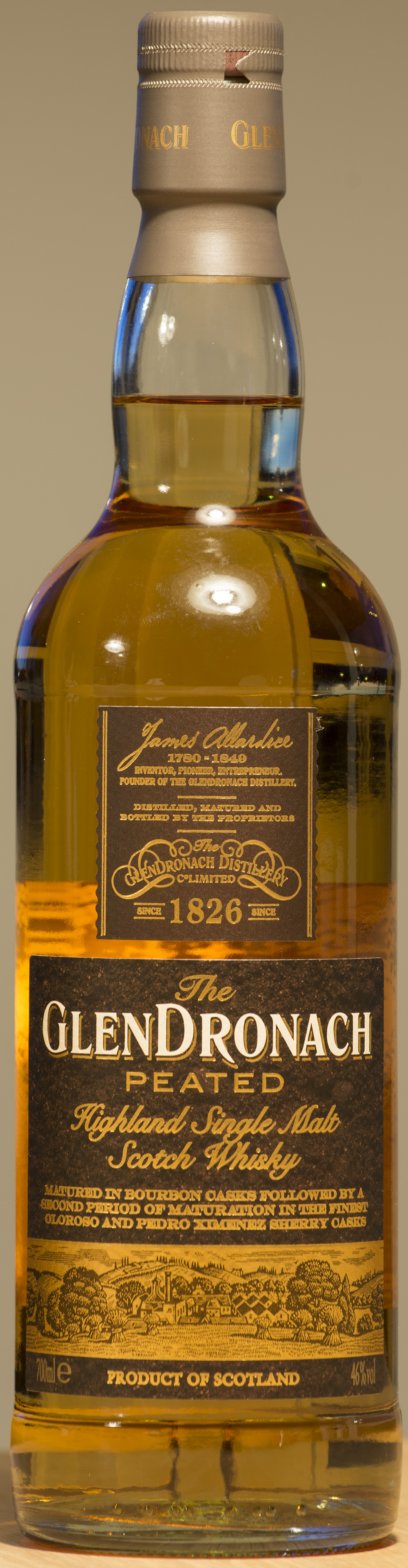 Billede: DSC_9075 - The GlenDronach Peated - bottle front.jpg