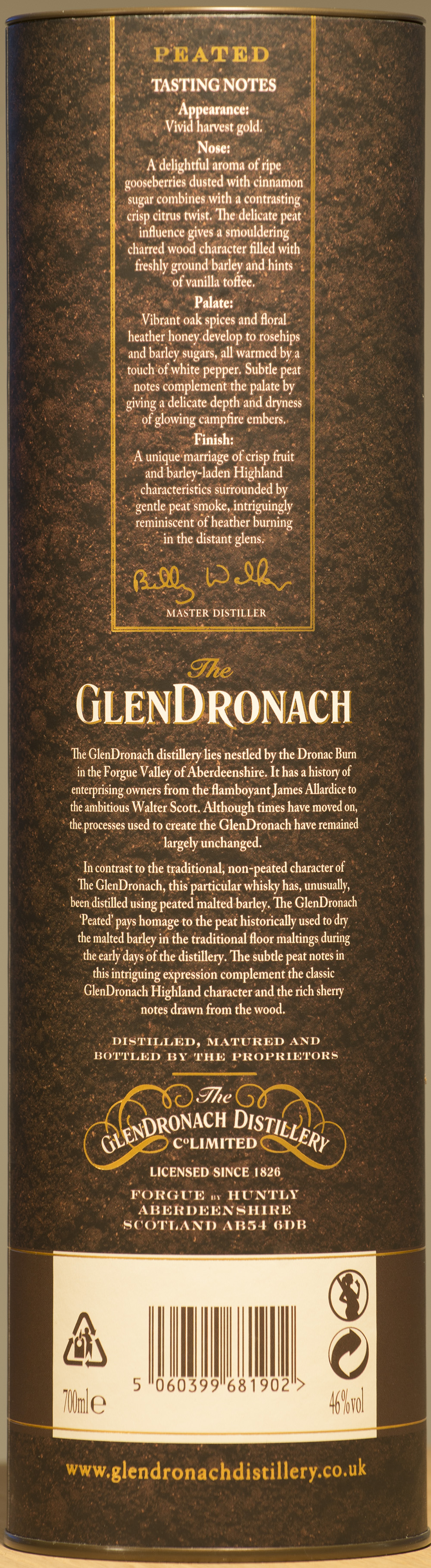 Billede: DSC_9078 - The GlenDronach Peated - tube back.jpg