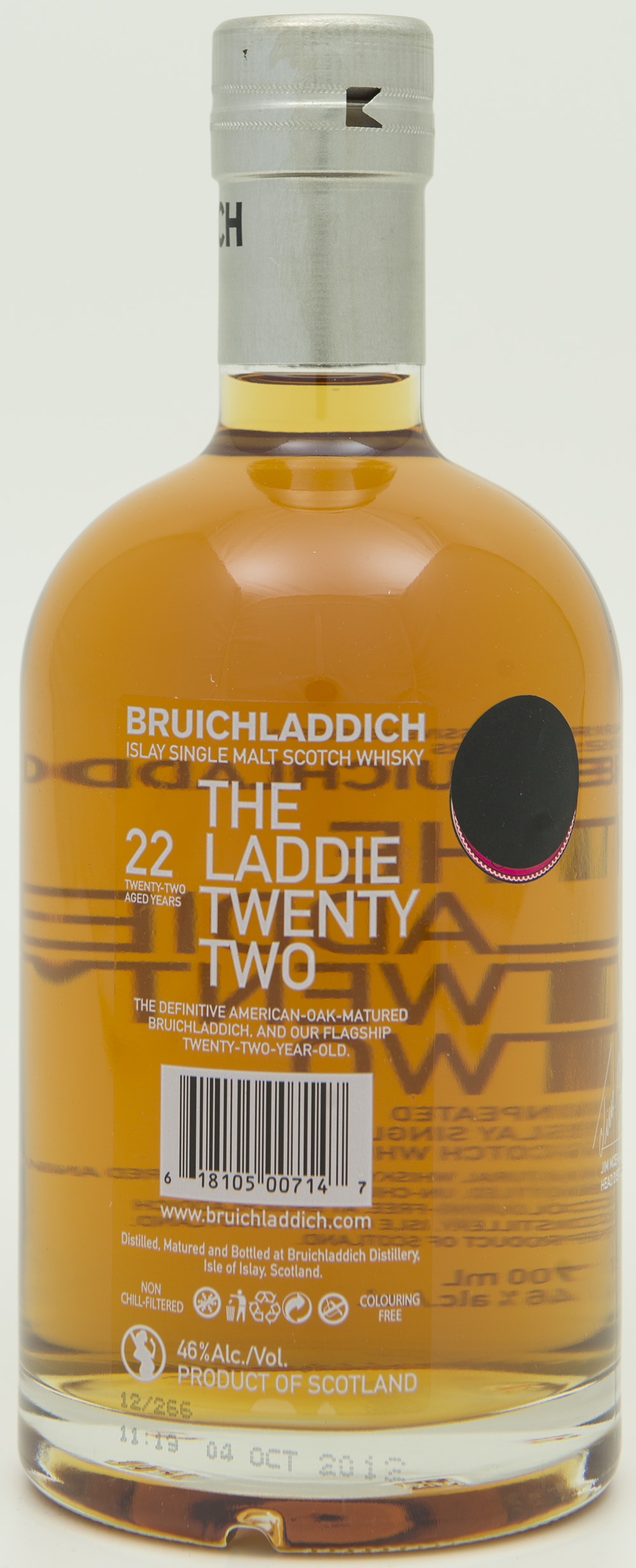 Billede: DSC_0773 - Bruichladdich The Laddie Twenty Two - bottle back.jpg