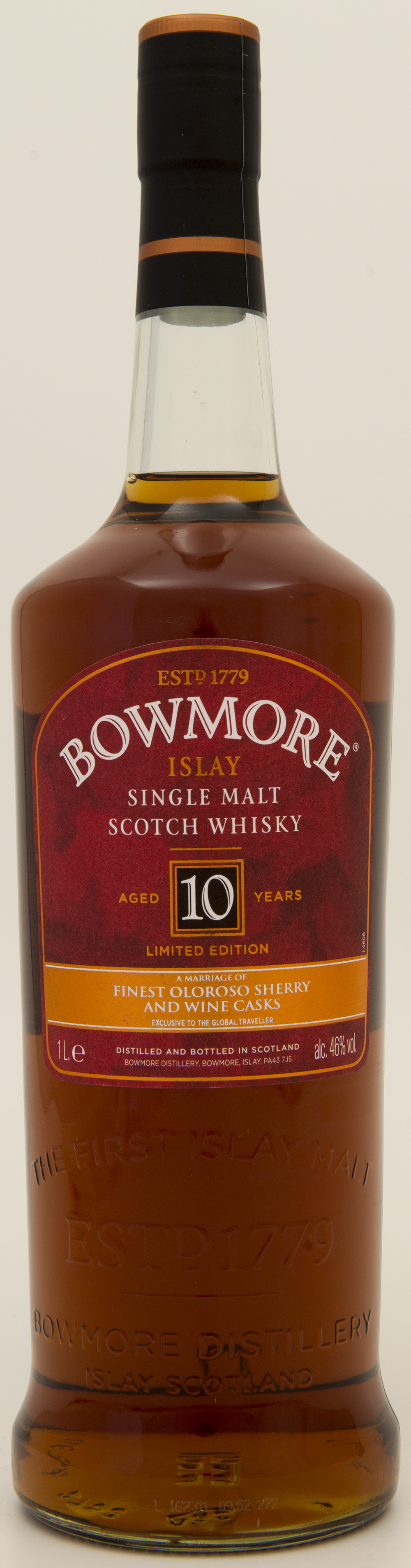 Billede: DSC_1377 - Bowmore 10 Limited edition Oloroso and Wine Casks - bottle front.jpg