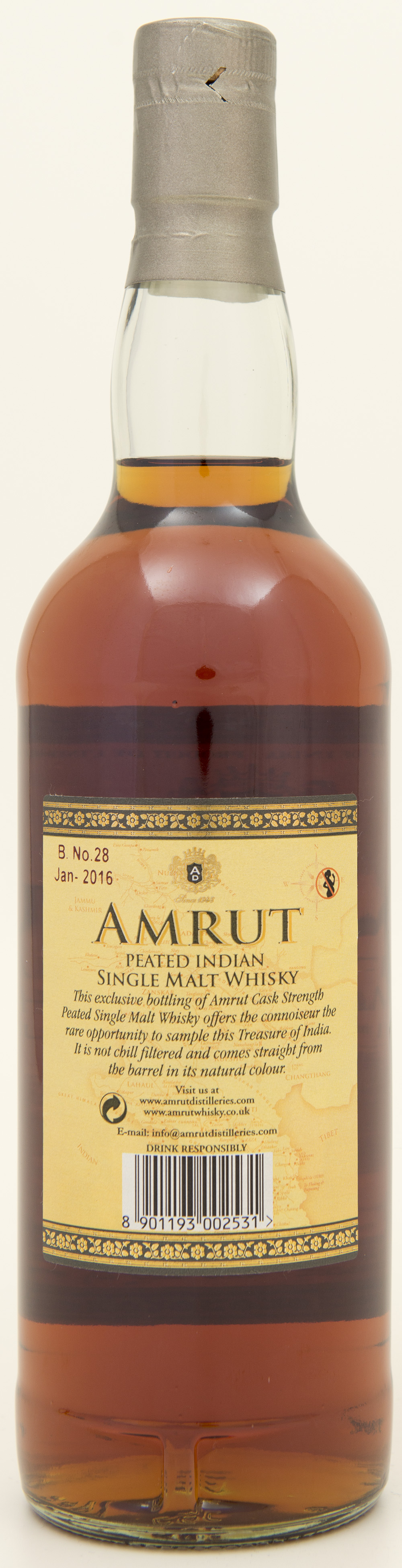 Billede: DSC_1386 - Amrut Peated Cask Strength - bottle back.jpg