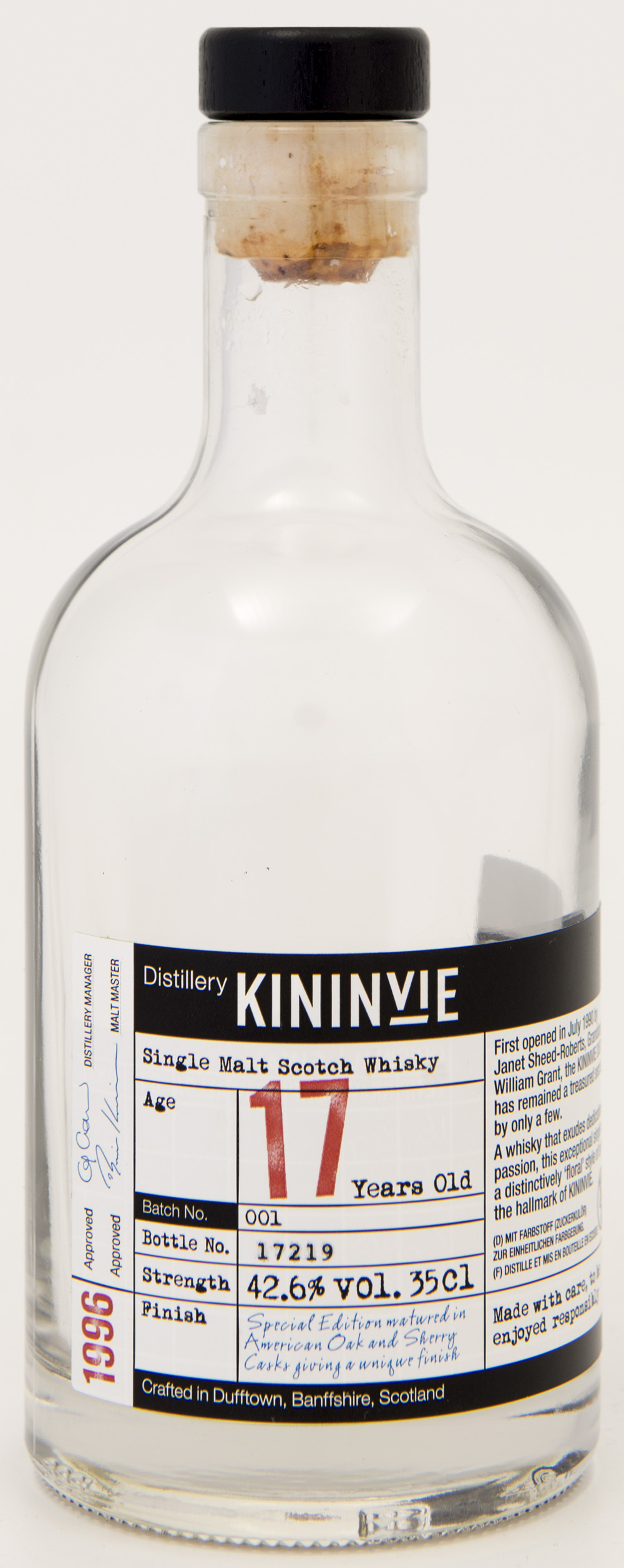 Billede: DSC_1414 - Kininvie 17 travel exclusice batch no 1 - bottle front.jpg