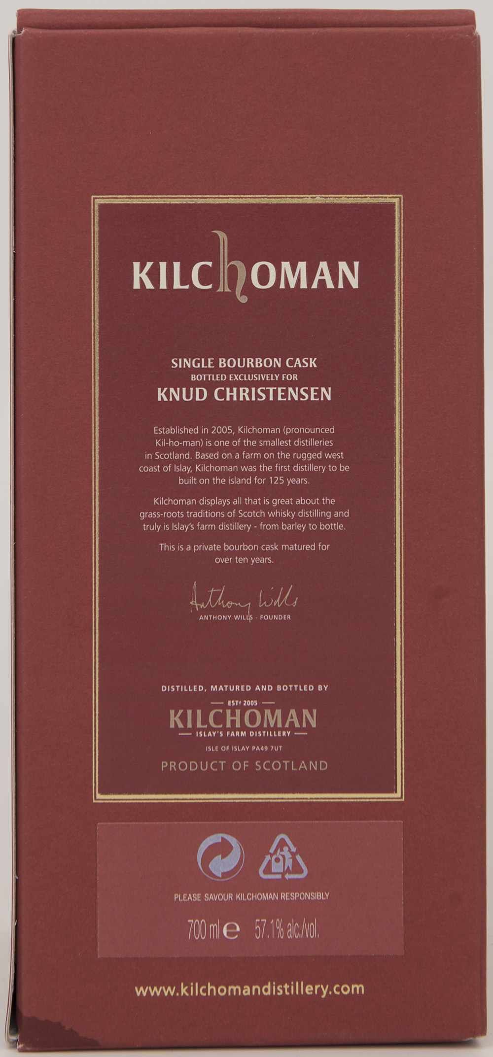 Billede: DSC_1418 - Kilchoman Private Cask Release 94 2006 - box back.jpg