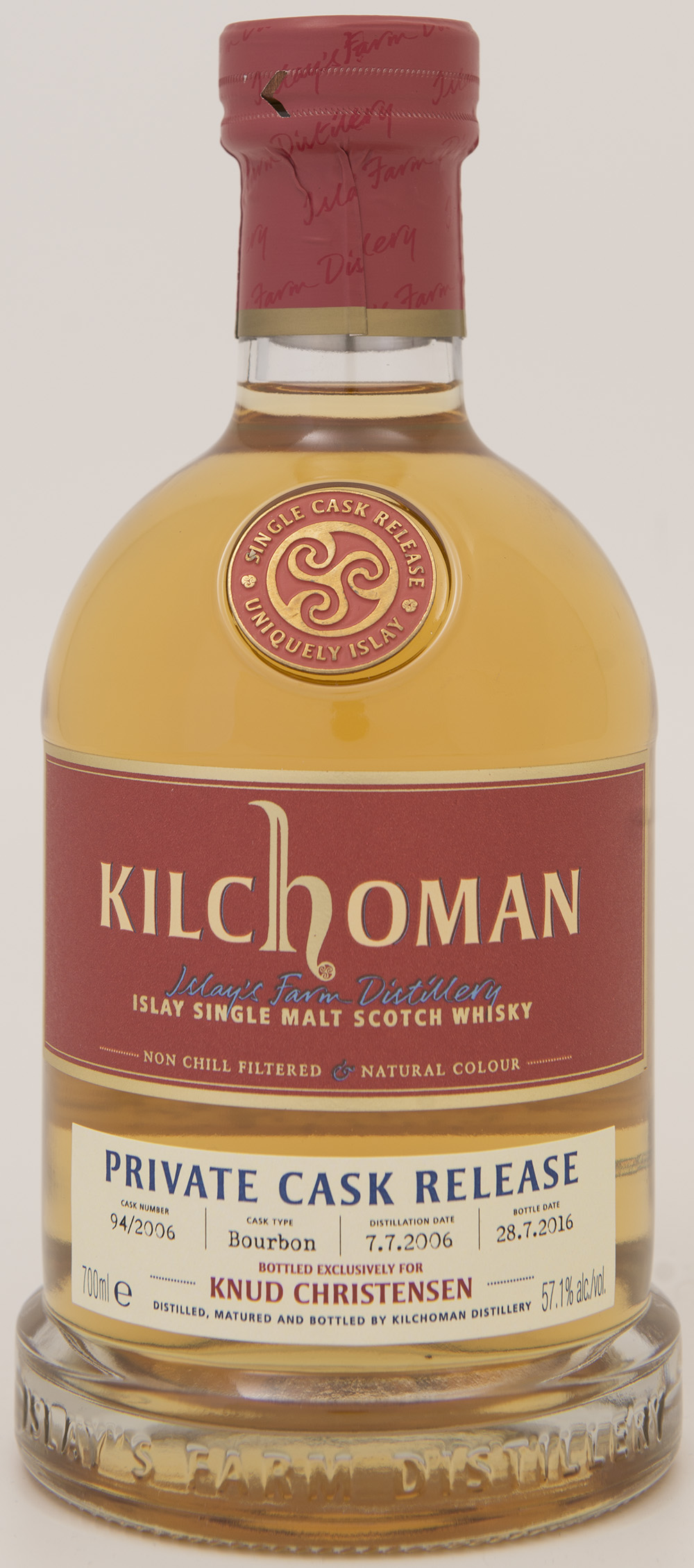 Billede: DSC_1419 - Kilchoman Private Cask Release 94 2006 - bottle front.jpg