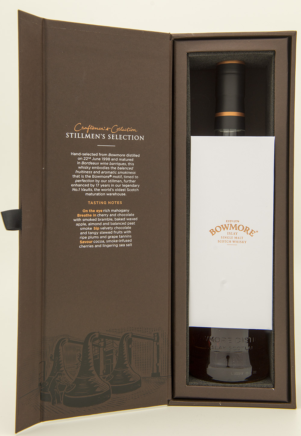 Billede: DSC_3221 - Bowmore Stillmen's Selection - box open.jpg