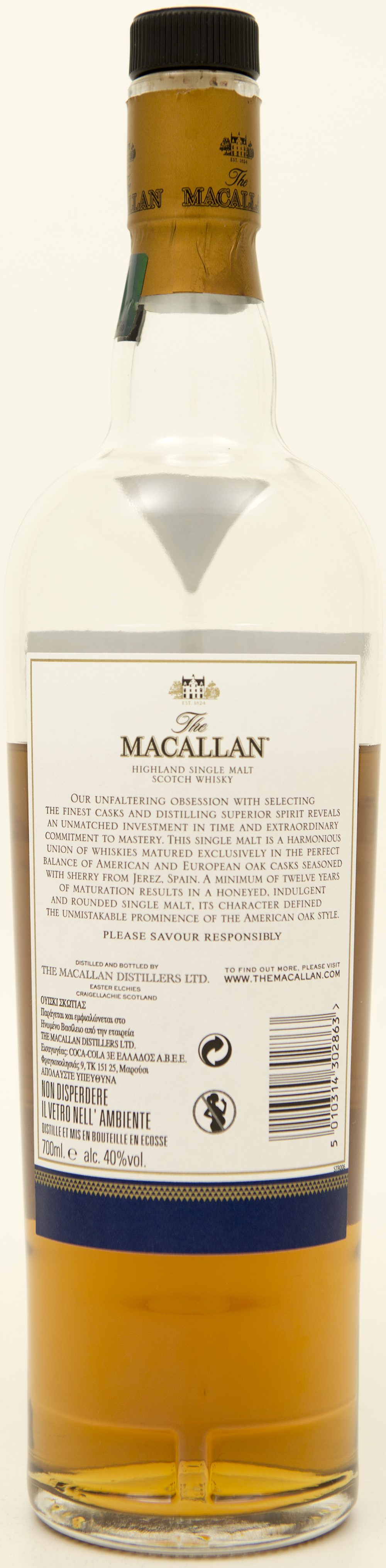 Billede: DSC_3654 - The MacAllan 12 Double Cask - bottle back.jpg