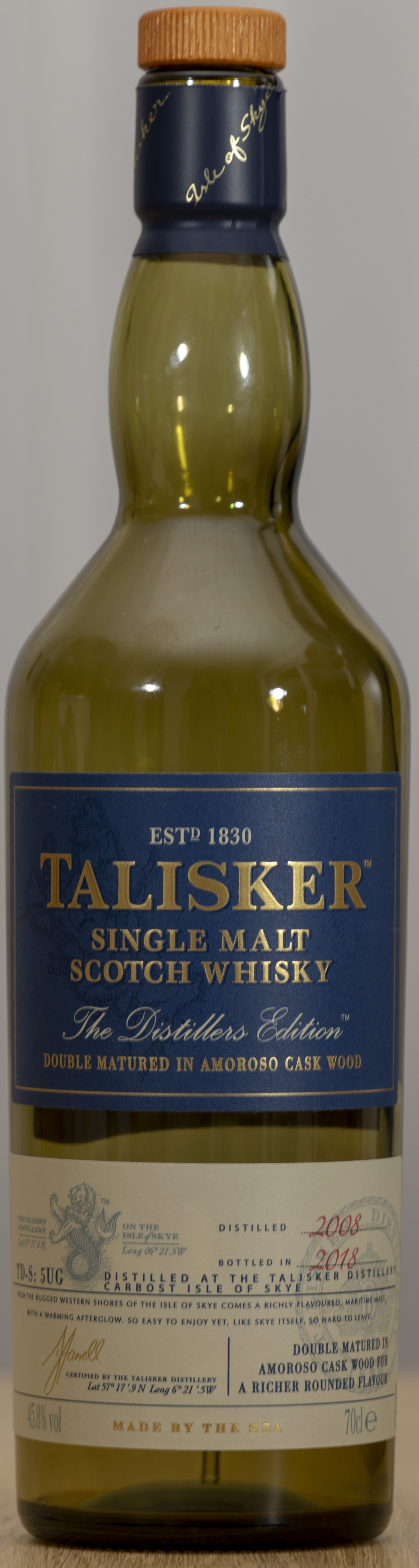 Billede: PHC_1582 - Talisker Distillers Edition - bottle front.jpg