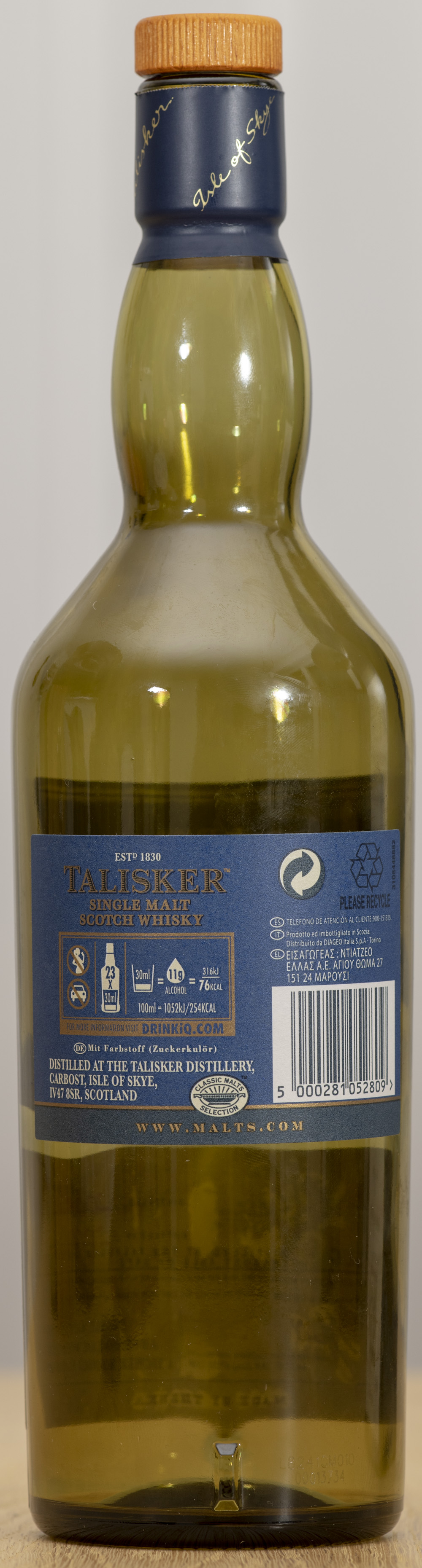 Billede: PHC_1583 - Talisker Distillers edition - bottle back.jpg