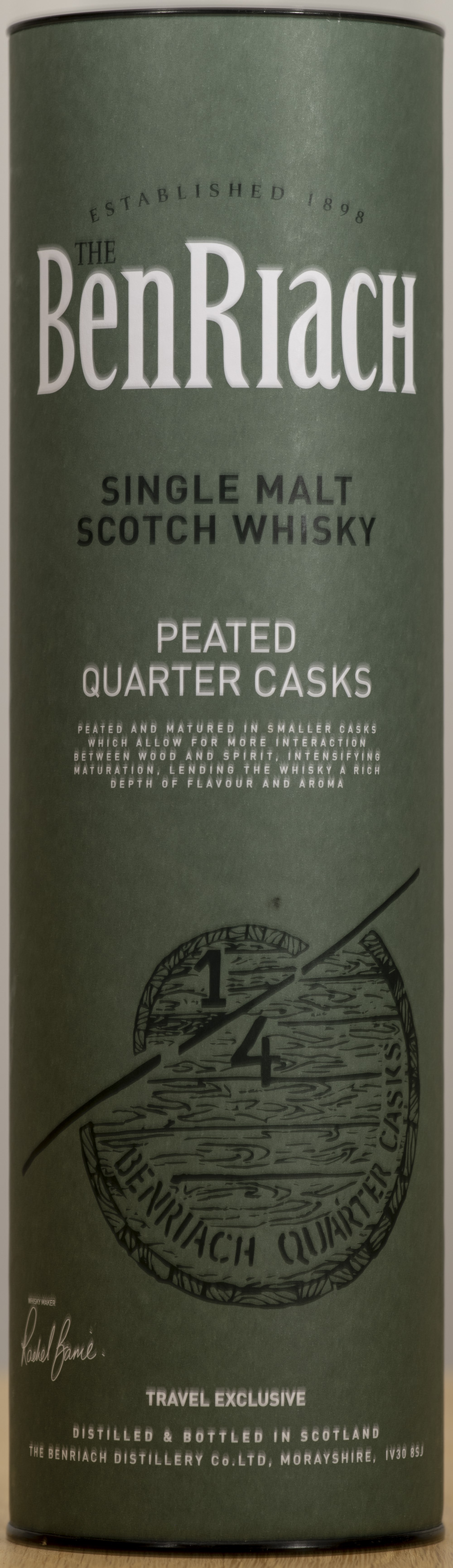 Billede: PHC_1576 - Benriach Peated Quarter Cask - tube front.jpg