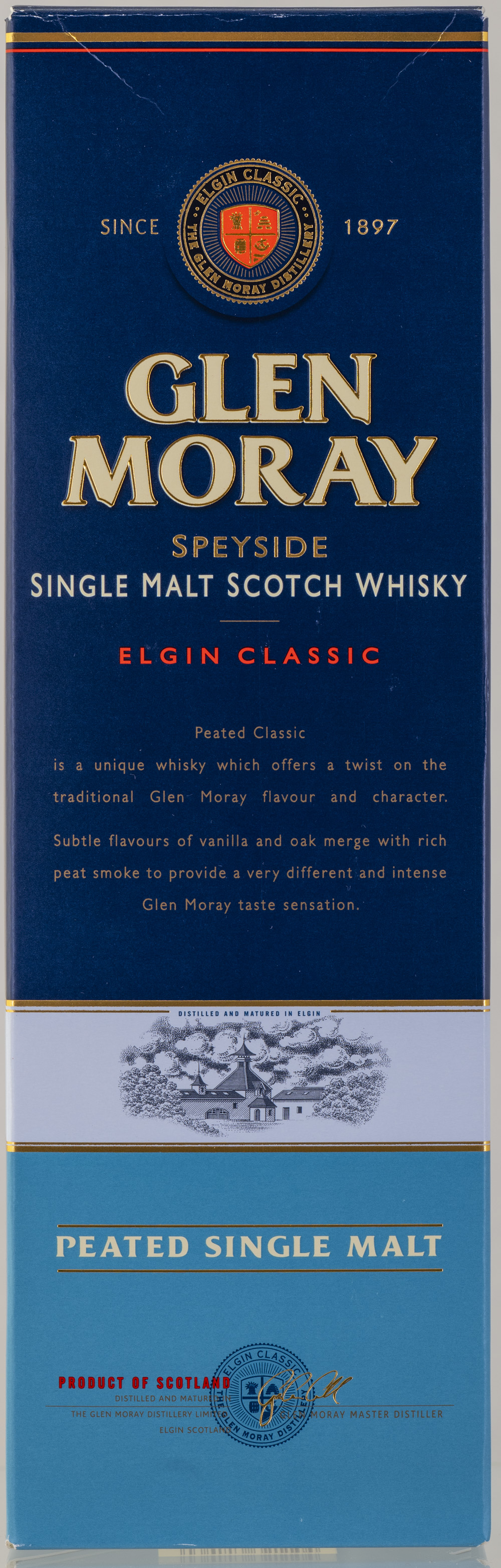 Billede: PHC_2270 - Glen Moray - Elgin Classic Peated - box front.jpg