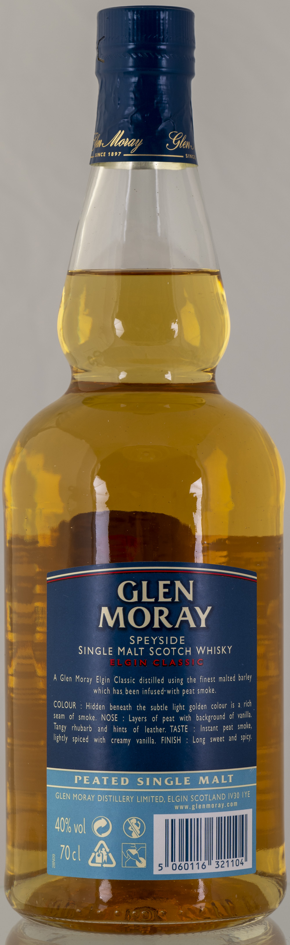 Billede: PHC_2273 - Glen Moray - Elgin Classic Peated - bottle back.jpg