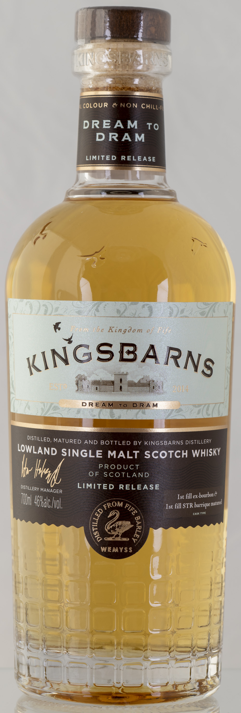 Billede: PHC_2231 - Kingsbarns Dream to Dram - bottle front.jpg