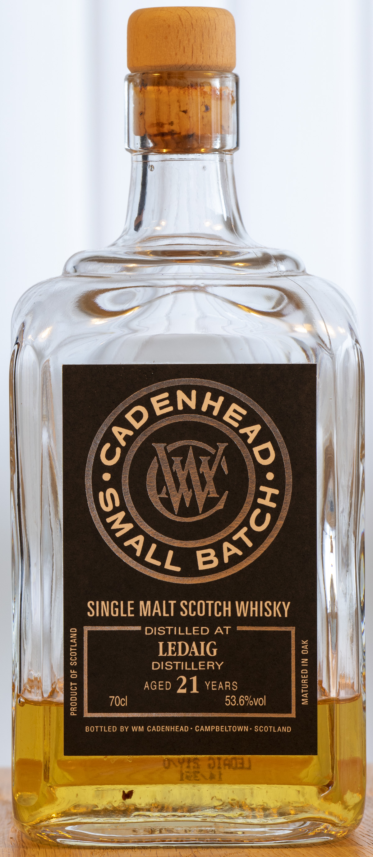 Billede: PHC_3914 - Cadenhead Small Batch Ledaig 21y - bottle front.jpg