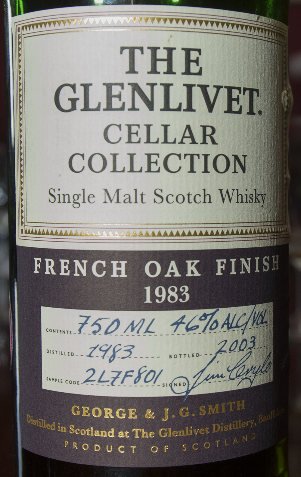 Billede: DSC_1025 The Glenlivet Cellar Collection French Oak Finish 1983-2003.jpg