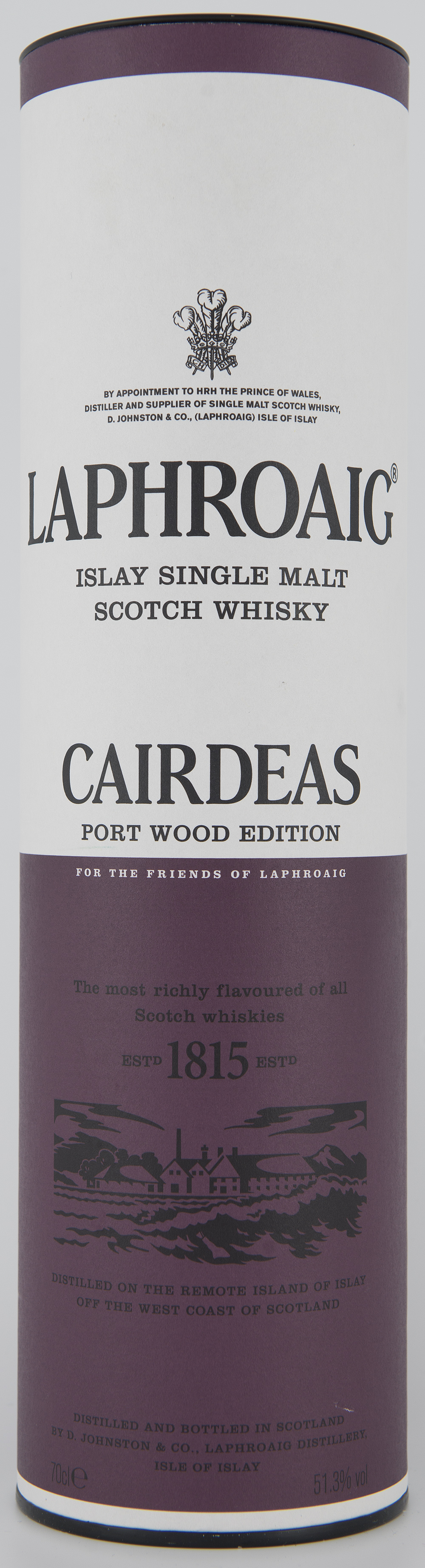 Billede: DSC_3216 Laphroaig Cairdeas Port Wood Edition (Feis Isle 2013) - tube front.jpg