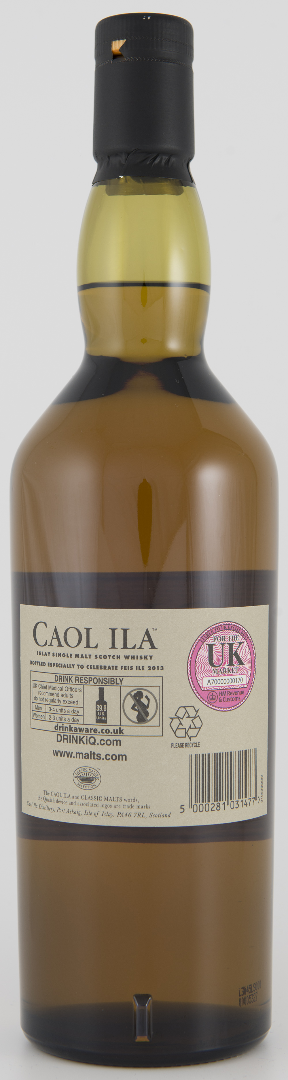 Billede: DSC_3198 Caol Ila - Feis Isle 2013 - bottle - back.jpg