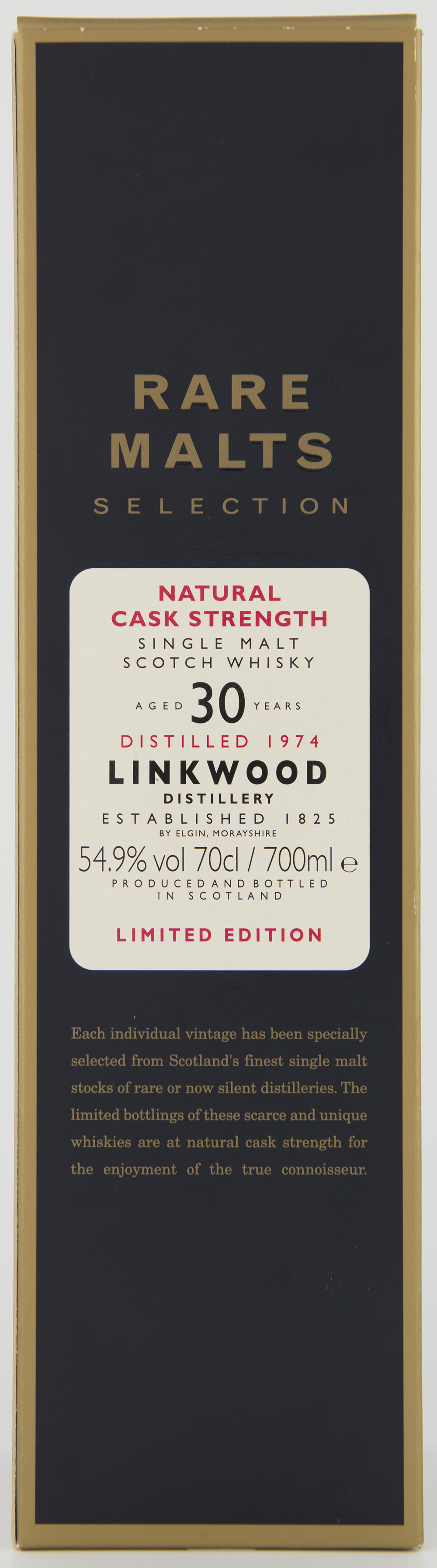Billede: DSC_3355 Linkwood 30 - rare malts - box front.jpg