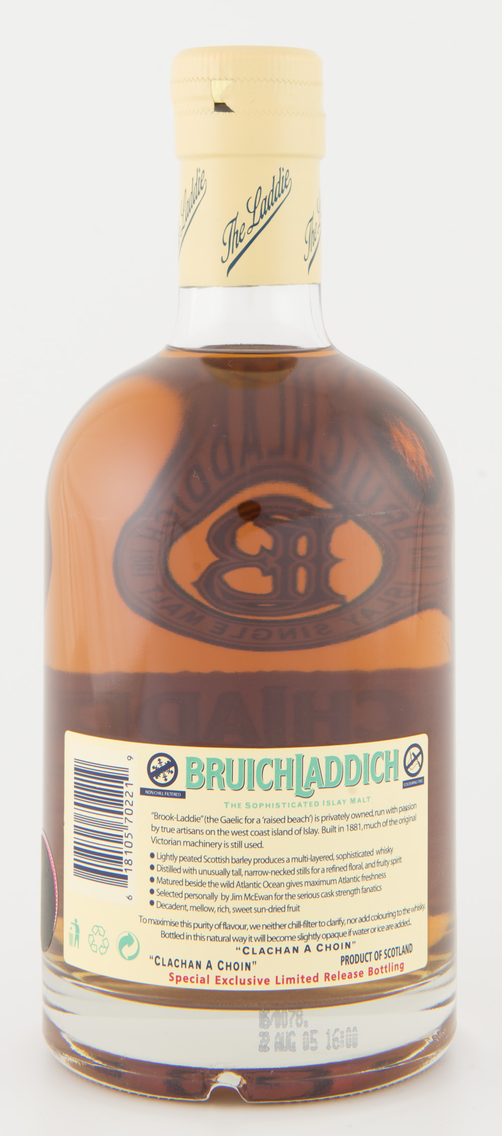 Billede: DSC_3572 Bruichladdich Full Strength 1989 - 16 years - bottle back.jpg