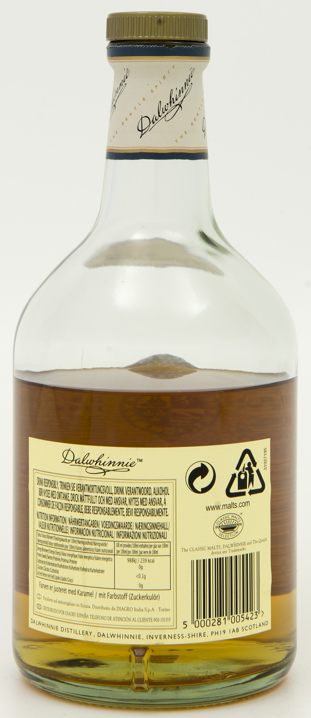 Billede: DSC_8170 - Dalwhinnie 15 - bottle back.jpg