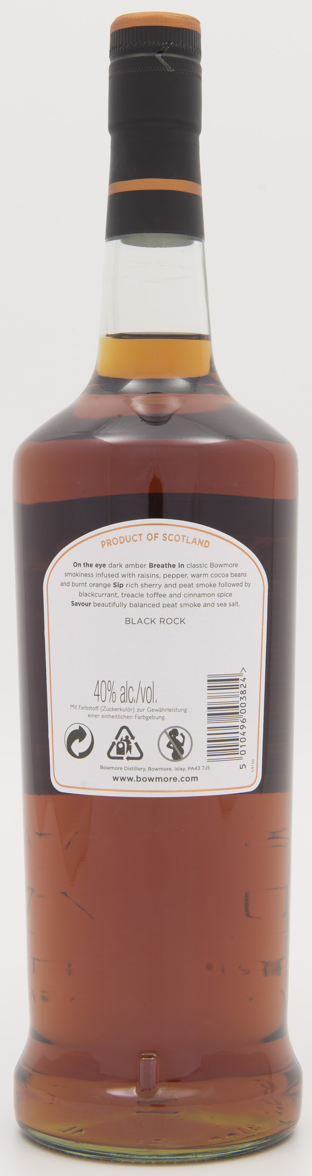 Billede: DSC_3843 Bowmore Black Rock - bottle back.jpg