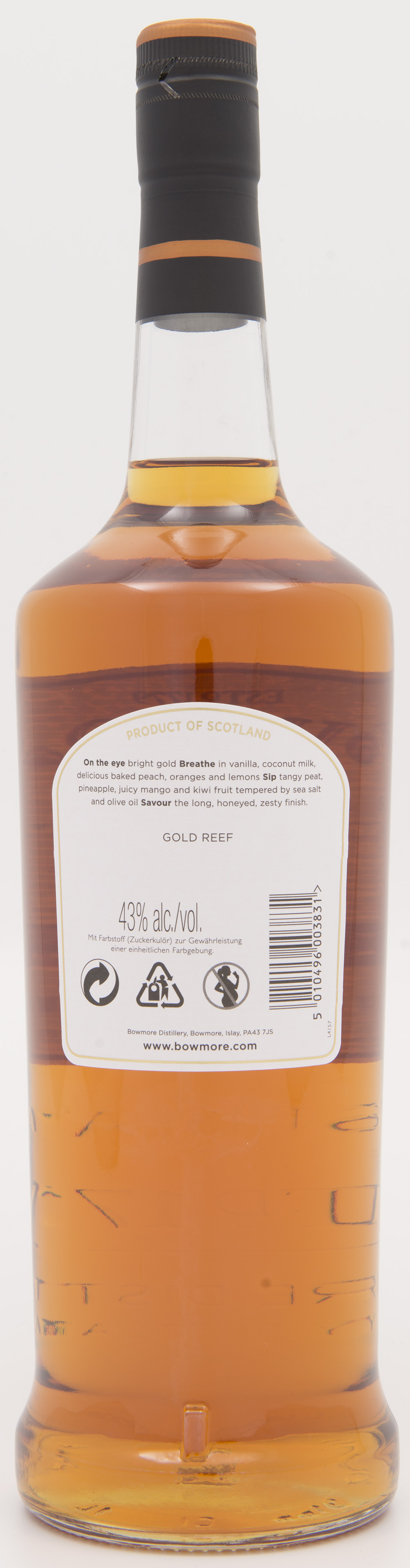 Billede: DSC_3855 Bowmore Gold Reef - bottle back.jpg