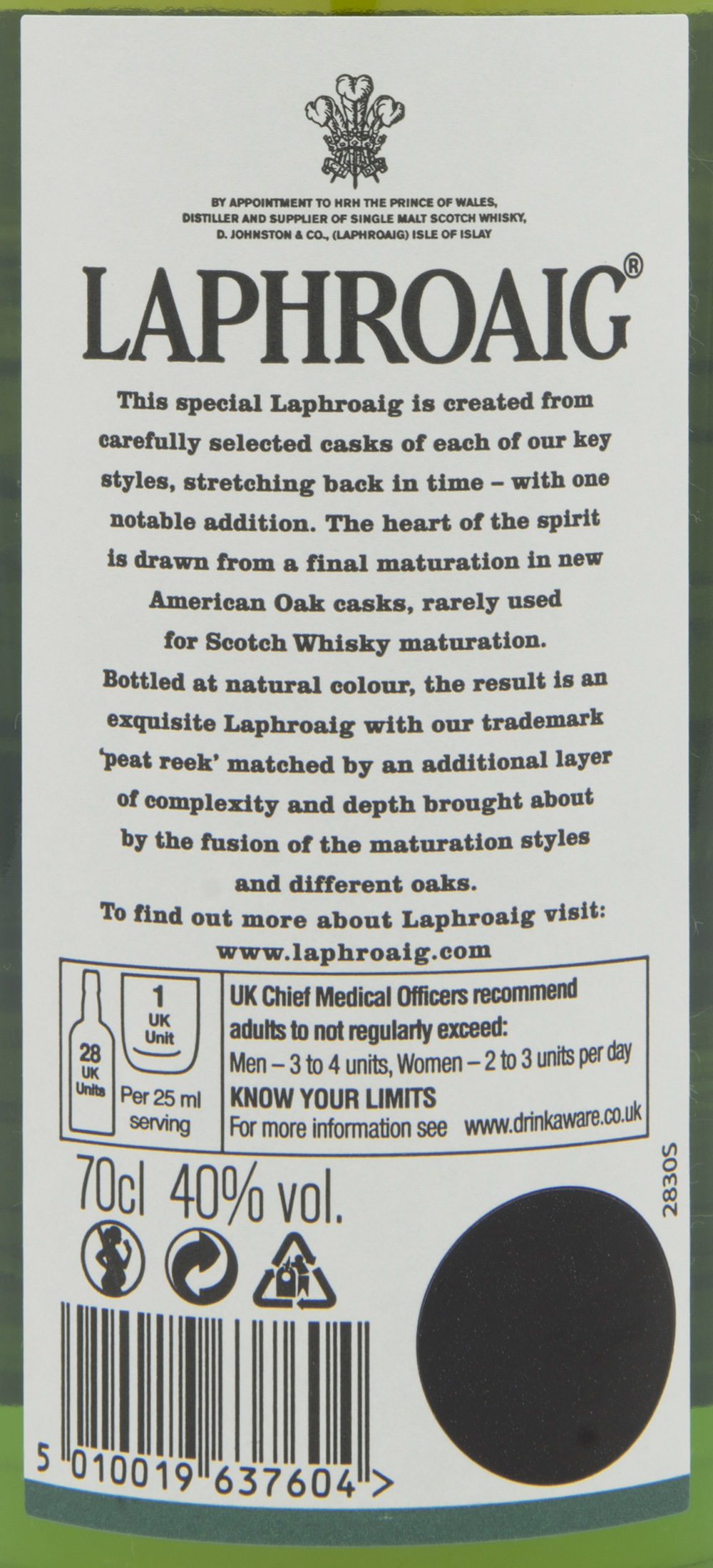 Billede: DSC_4806 - Laphroaig Select - back label.jpg